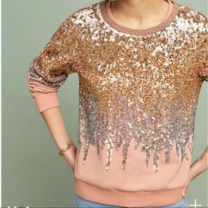 Anthropologie the ugly girl sequin pullover top